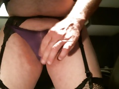 Cumming in Purple Panties