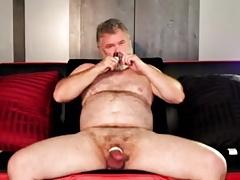 Daddy Bear Unloads in a Sauna
