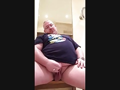 Mature chubby play and cum