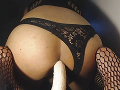 Asian cd playing with dildo