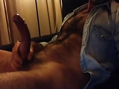 jerking on the couch