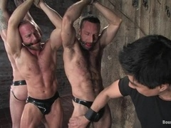 Three insatiable gays get tortured by a wicked dominator