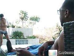 Justin Benjamin fucking and sucking black dick