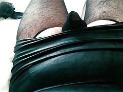 in her skirt