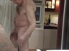 Ulf Larsen flashing, wanking & watching porn
