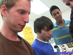 College twink jizz himself during hazing