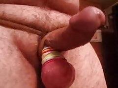 Walking hard small thick curved cock big tight balls