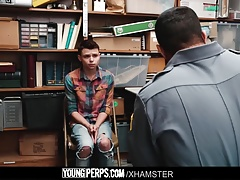 YoungPerps-Twink shoplifter boy barebacked by security guard