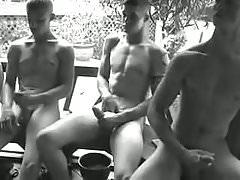 A Soldiers Outdoor Circle Jerk   ( Group Jerk Off & Cum )