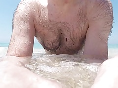 Nudist beach play