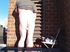Joey D long outdoor vid anal & cum-shot curvy butt