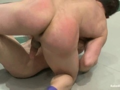 Jason Miller gets his chocolate eye toyed and fucked on a ring