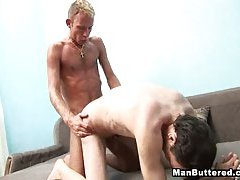 Gay Face Covered With Anal Cream
