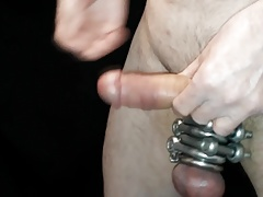 Slapping my Cock & Licking my Cum