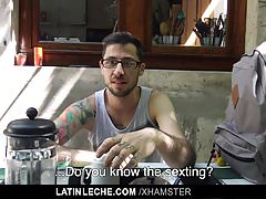 LatinLeche - Two hotel strangers agree to fuck on cam for ca