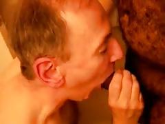 Older men sucking a black cock 2