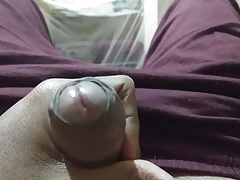 Indian young  boy nihal making his long cock ready to fuck