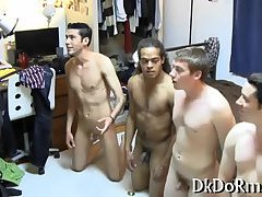 Gays suck dicks in a group action