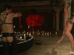 Alessio Romero gets punished by sexy gay Master Avery