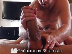 GayRoom Hotel massage fuck with hunk Blaze Austin