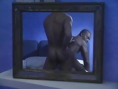 Interracial Couple Making Love