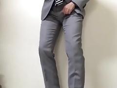 Suit jerk off