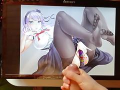 Shidare Hotaru gets cumshot on feet and legs - SoP