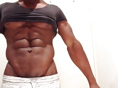 HOTTEST BLACK MUSCLE GOD FLEX WORSHIP