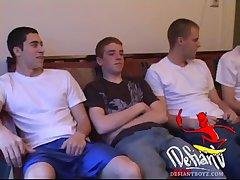 Four Boys Circle Jerk