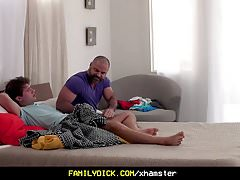 FamilyDick - Muscle stepdad edges and breeds his stepson