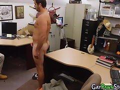 Bear jerks off on spycam