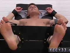 Bondaged guy gets tickled