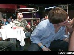Gay gang sucking cock