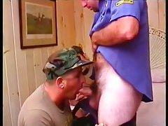 Horny Gay Guys In Uniform Circle Suck