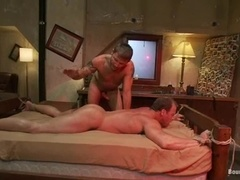 Derek Pain gets his ass spanked and fucked by Brenn Wyson