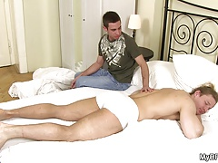 Hot gay suck and fuck in the bedroom