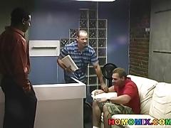 White perv gets black cock punishment