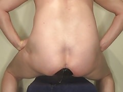 Pushing My Huge Butt Plug Out.