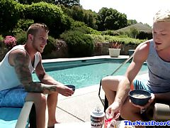 Rimmed hunk amateur gets his ass drilled