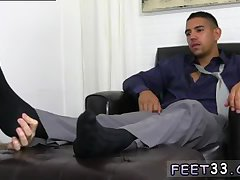 Guy is eager to lick feet