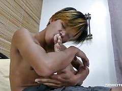 Asian Boy Clark Foot Fetish Jerk Off