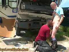 Nubian thug blows outdoor
