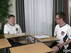 Gay students fuck while the teacher is away