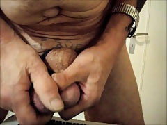 Hammering and crushing my cock and balls