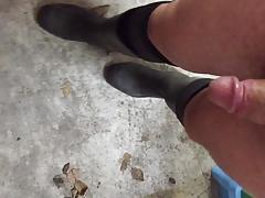 rubber boots and socks masturbating