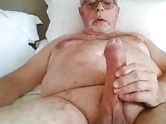 Mature male jerk off with cum