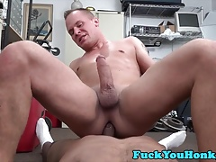 Straight amateur doggystyled by black cock