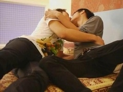 A pair of Slender Thai Boys Are Blowjob Addicts
