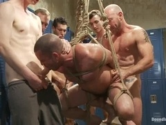 Ethan Ayers enjoys banging with homos in the locker room