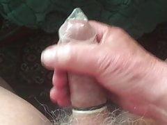 Me Wanking In a Condom